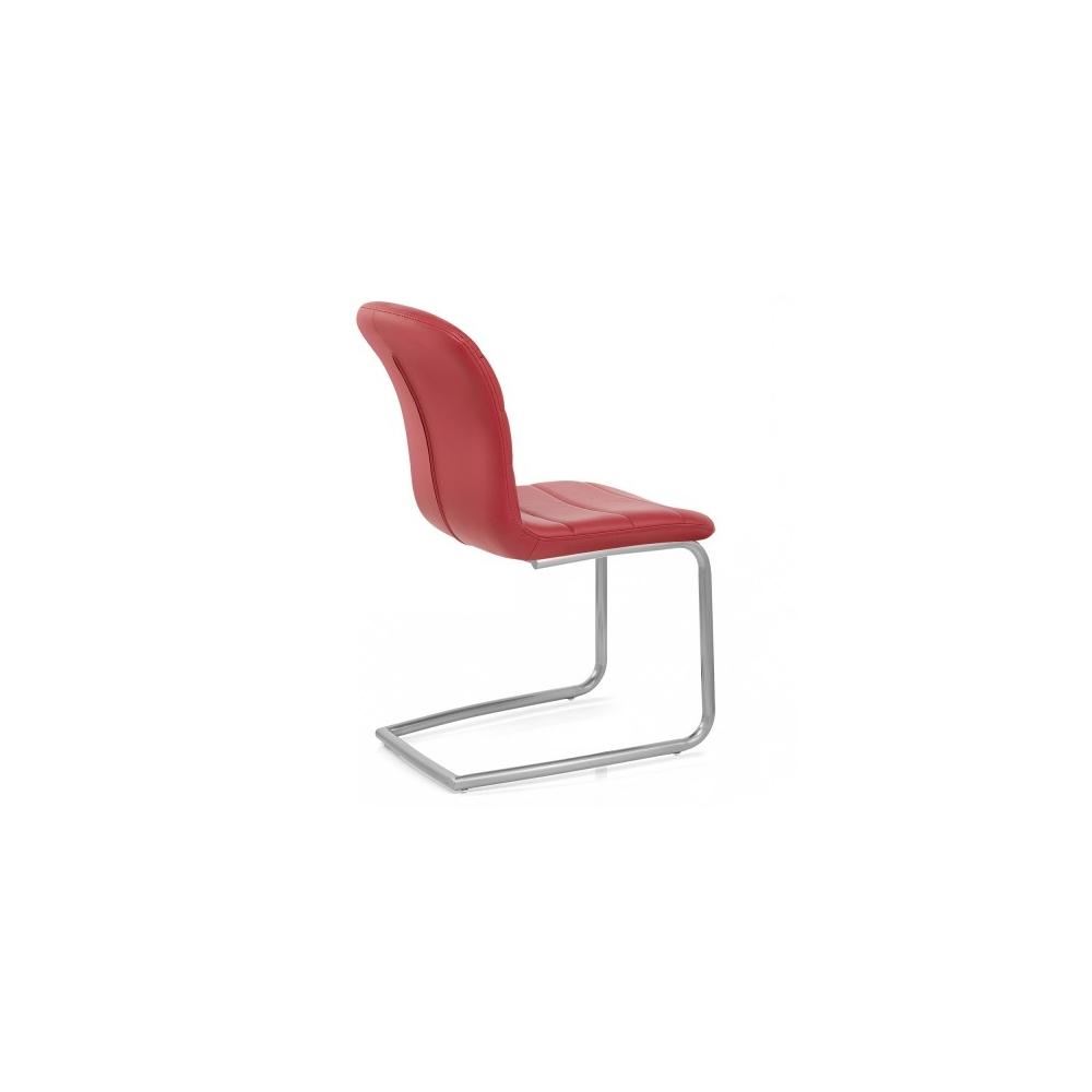 kunstleder chrom stuhl mica rot barhockerwelt. Black Bedroom Furniture Sets. Home Design Ideas