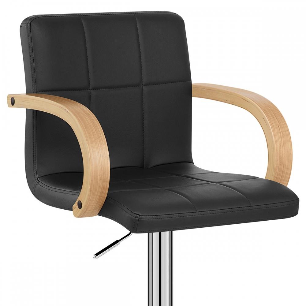 barhocker burton eiche und kunstleder barhockerwelt. Black Bedroom Furniture Sets. Home Design Ideas
