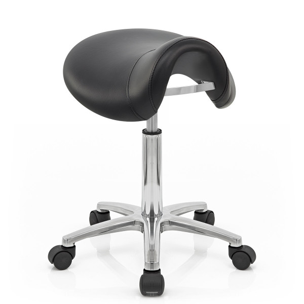 Kunstleder Rollhocker - Deluxe Saddle