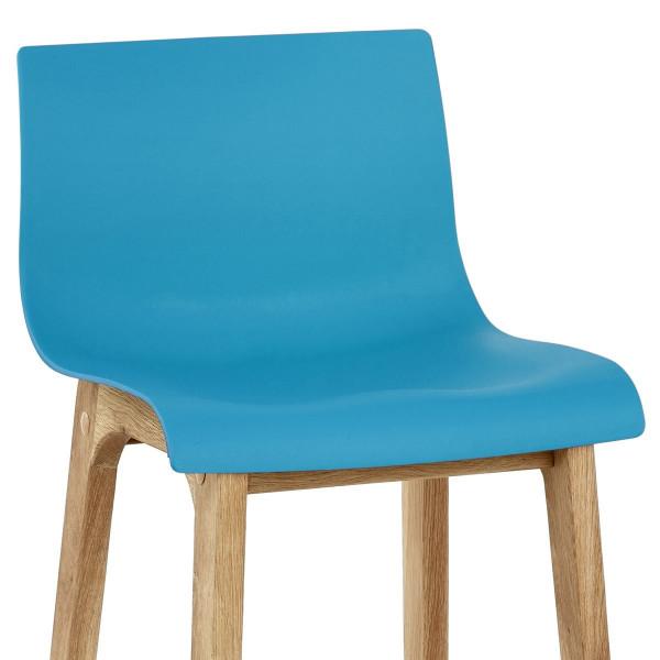 Barhocker Eiche - Drift Blau