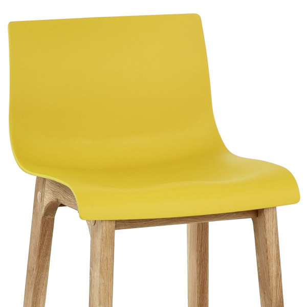 Barhocker Eiche - Drift Gelb