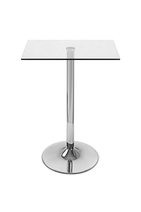 vetro quadratisch glastisch chrom barhockerwelt. Black Bedroom Furniture Sets. Home Design Ideas