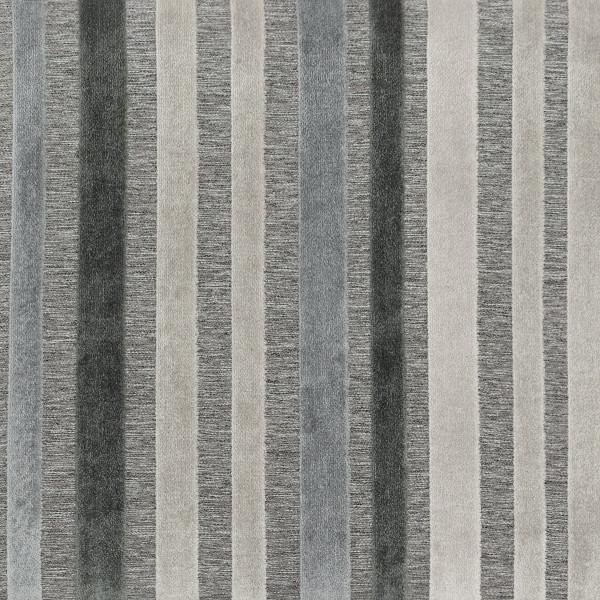 Stoff Holzbarhocker Blau/Grau Gestreift - Carter