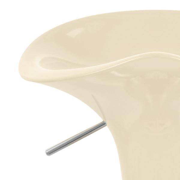Kunststoff Barhocker Chrom - Gloss Coco