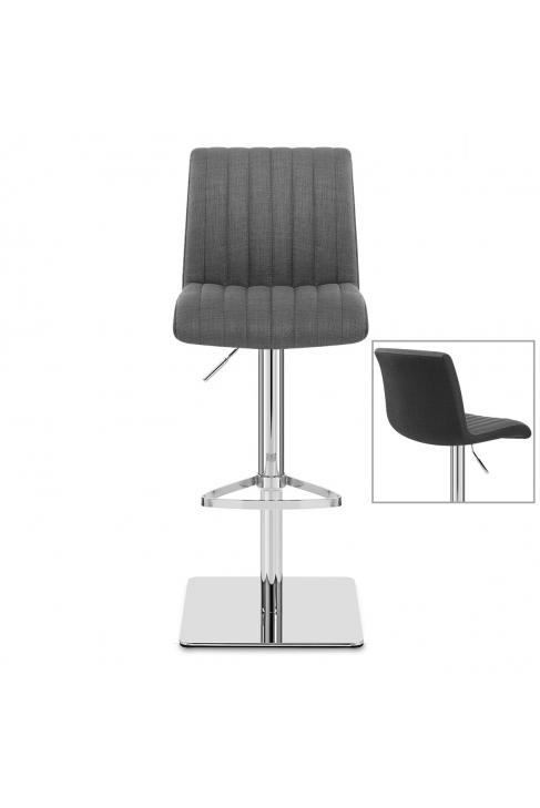 stoffbarhocker chrom clifford grau dunkel grau. Black Bedroom Furniture Sets. Home Design Ideas