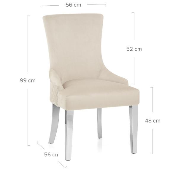 Samt Stuhl Chrome - Fontaine Braungrau