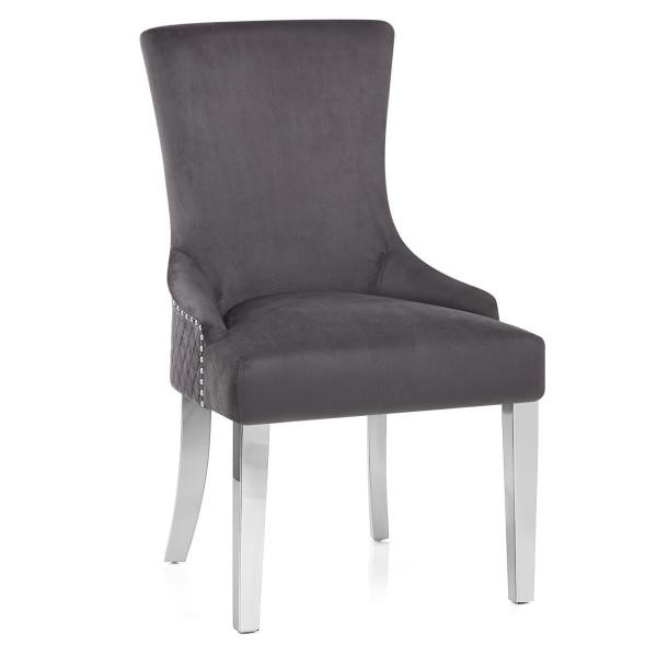 Samt Stuhl Chrome - Fontaine