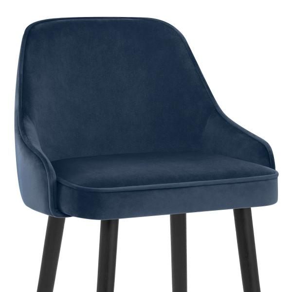 Samtbarhocker - Glam Blau
