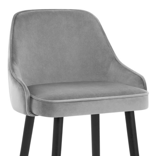 Samtbarhocker - Glam Grau