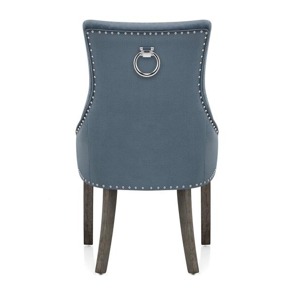 Stoff Esszimmerstuhl Grau - Ascot Blau